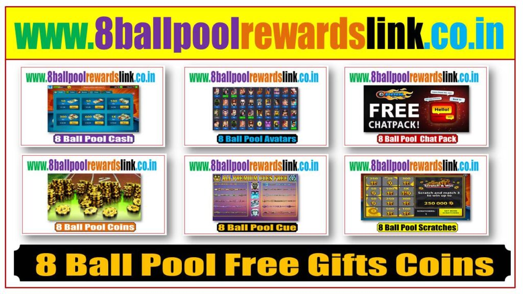 8 Ball Pool Free Gifts Coin, cash